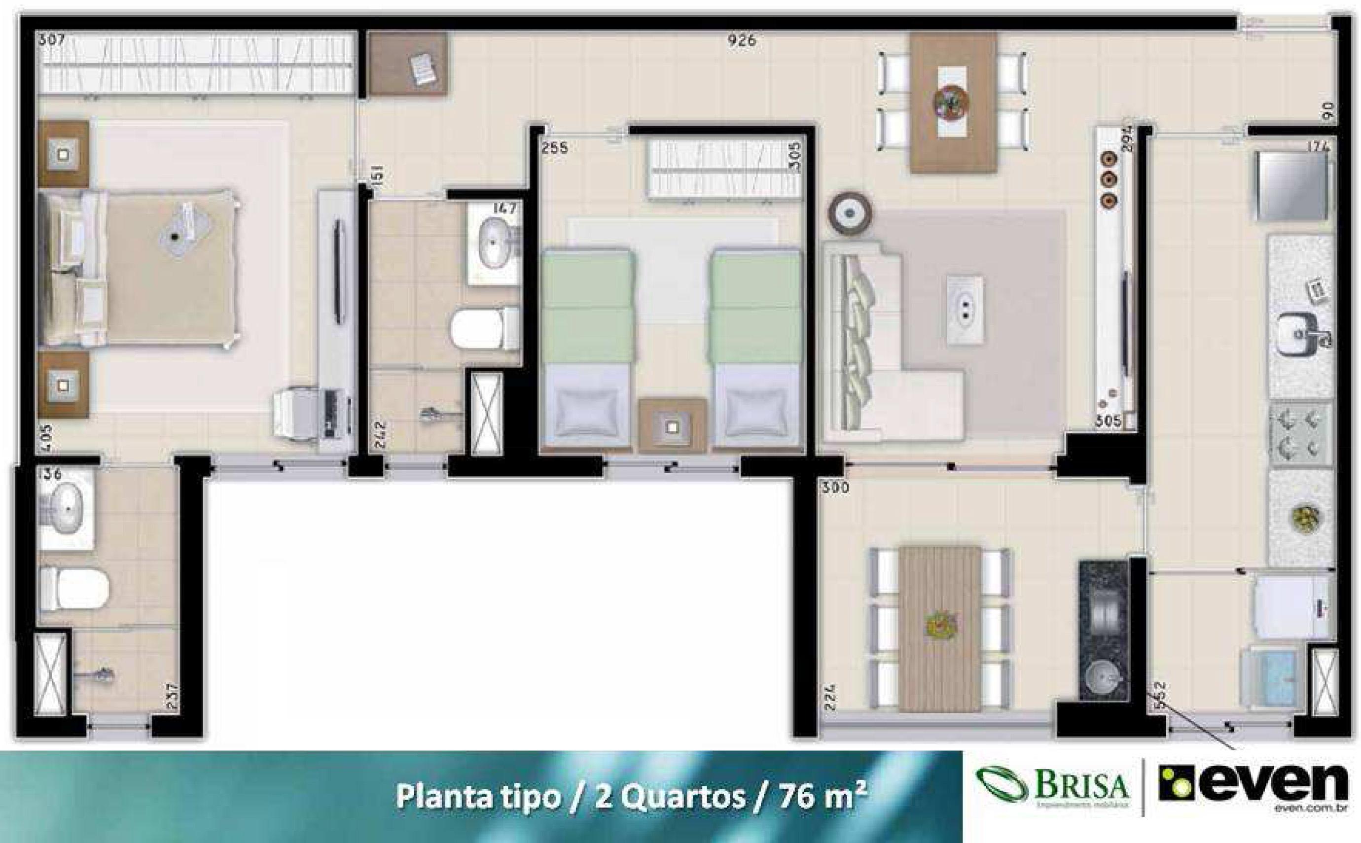 apartamento de 2 quartos no nouveau