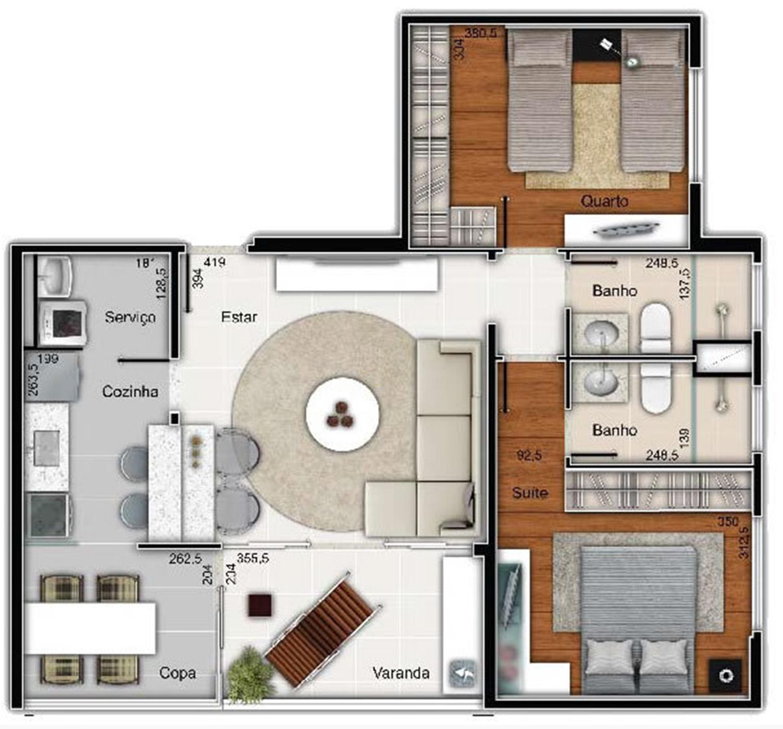 cennario miragem 2 quartos suite 74
