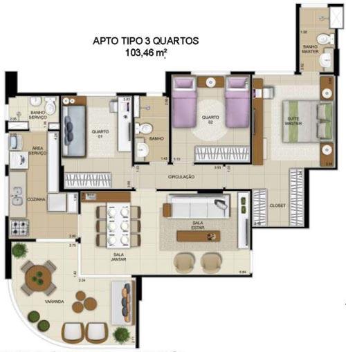 inovatto 3 quartos