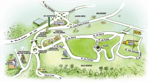 mapa do perfil vila da serra