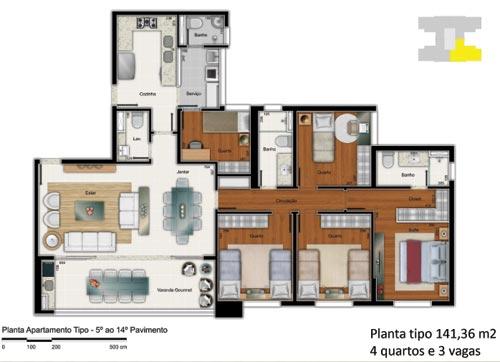 edificio perfil 4 quartos 141m