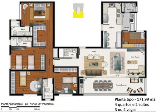 edificio perfil 4 quartos 172m