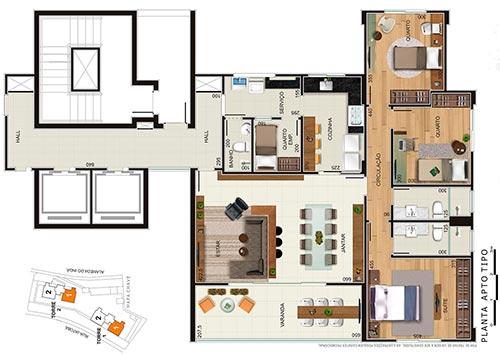 alsace apartamento 3 quartos 3 vagas
