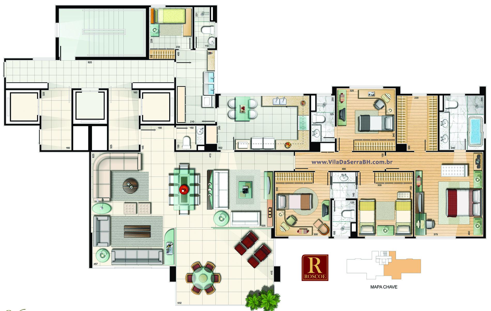 apartamento 4 quartos vila da serra avenida de ligação