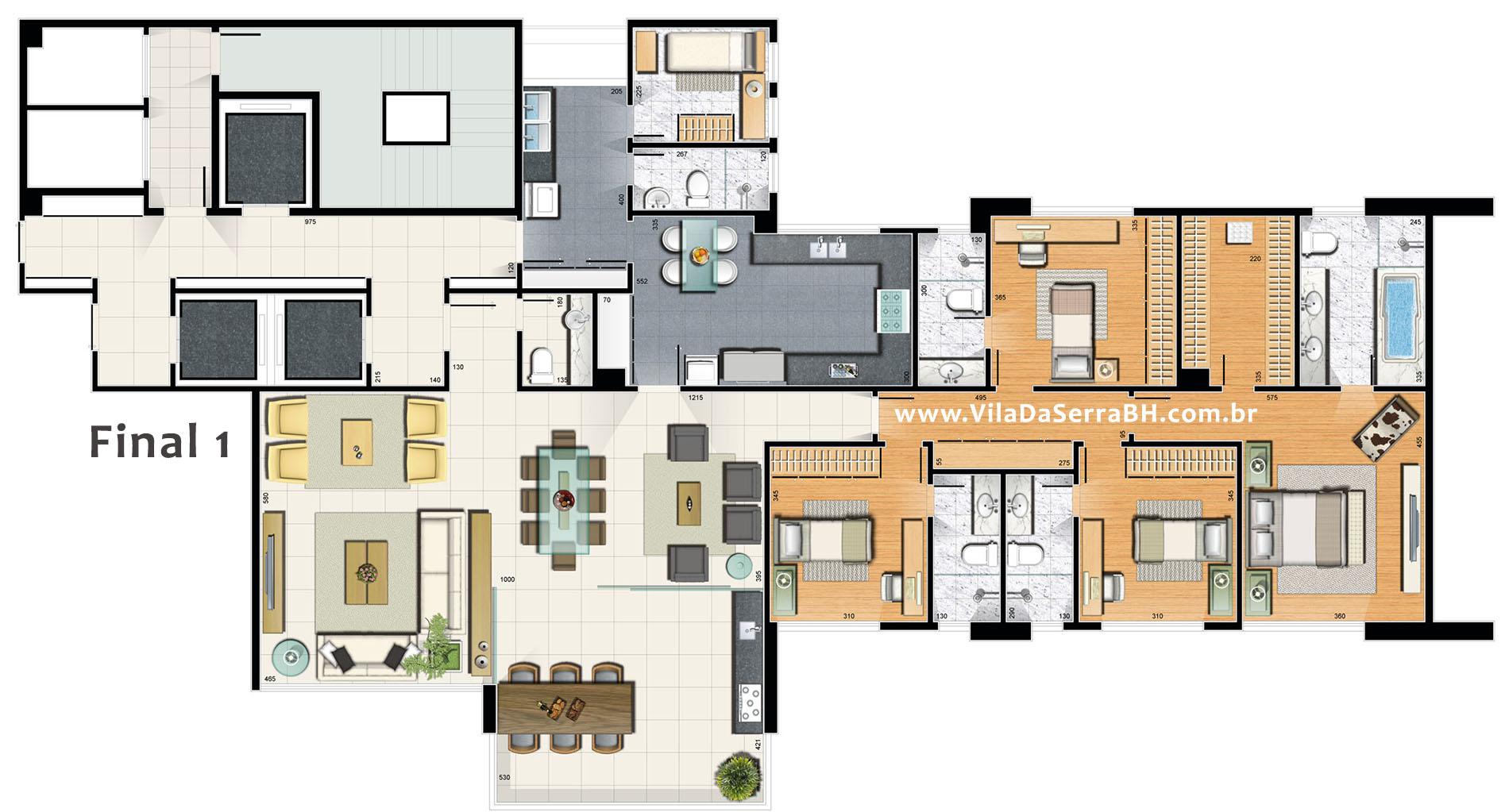 apartamento villa reale conartes vila da serra