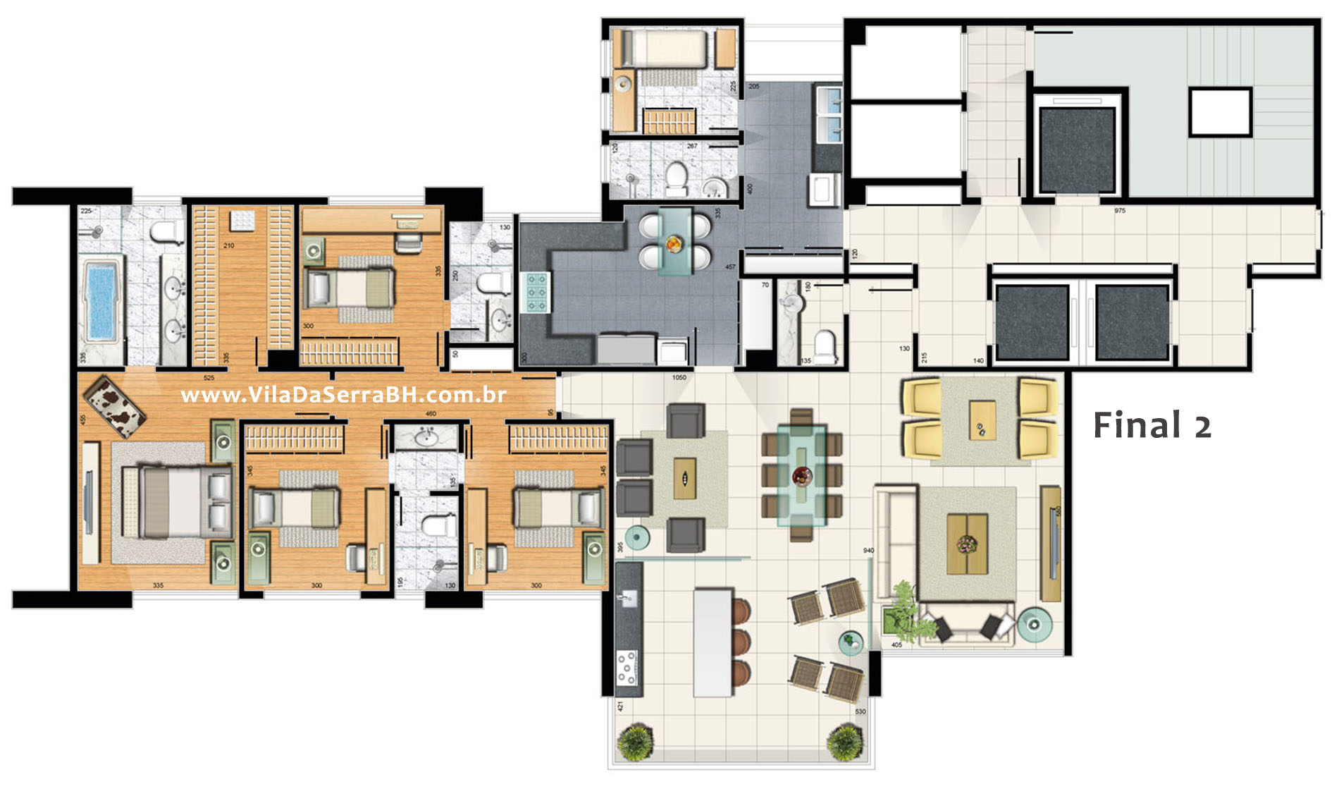 apartamento 4 quartos villa reale
