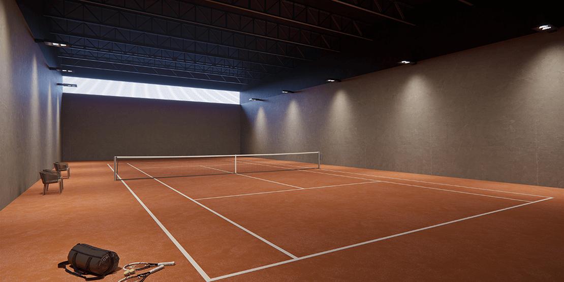 lançamento triple A no vila da serra - quadra de tenis