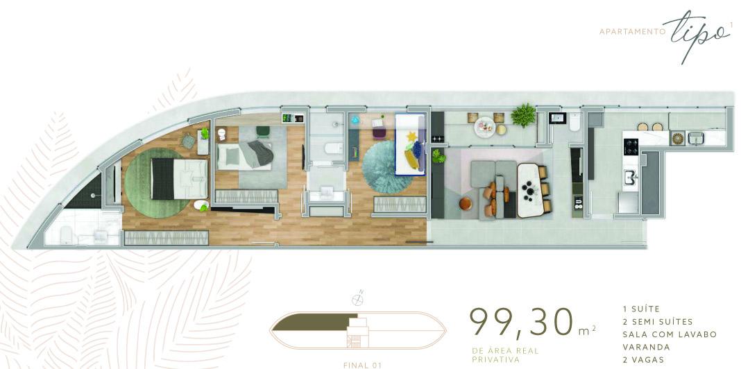 lançamento apartamento 3 quartos