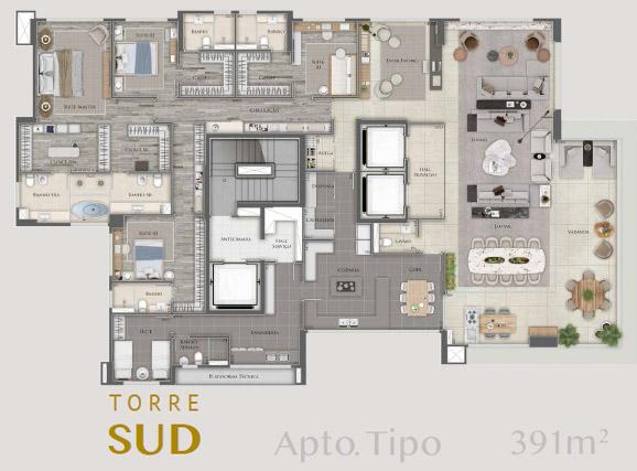 planta apartamento unique sud